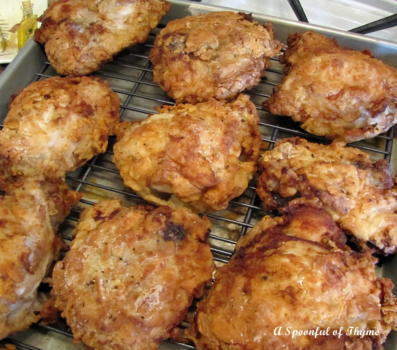 Spoonful of Thyme: Catch a Falling Star and Oven-Fried Chicken!