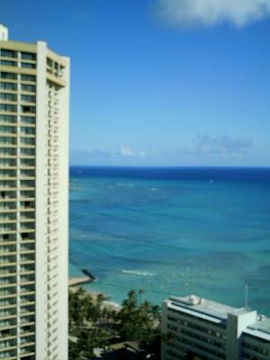 プリンセス・カイウラニ・ホテル アイナハウタワーウイングの28階ハイアット側の部屋からの眺望
