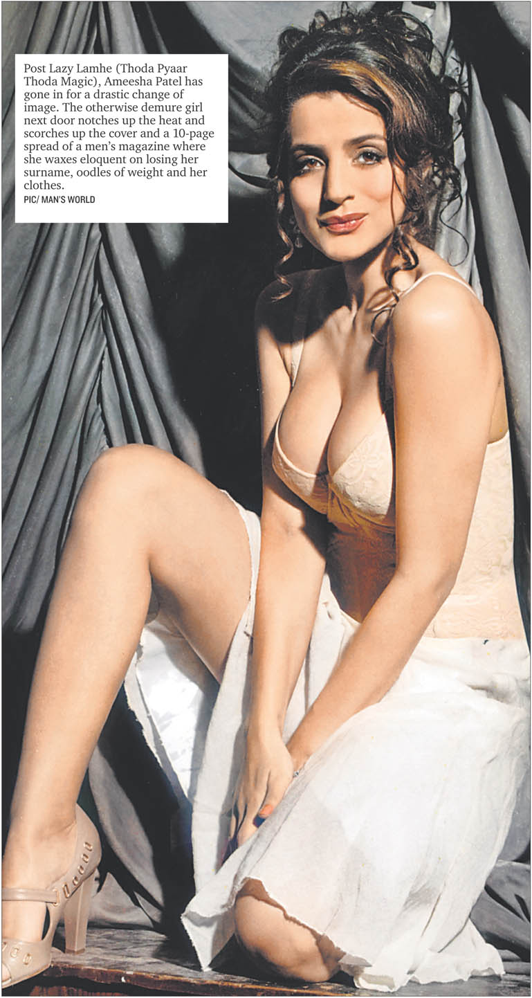 the glamour world ameesha patel the cleavage queen