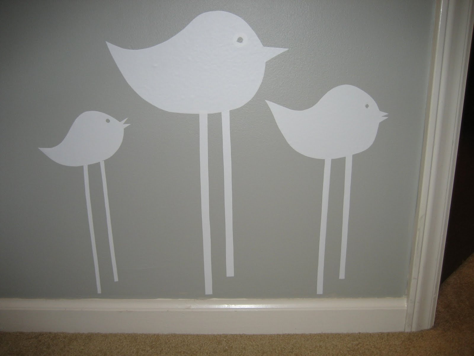 31 diy: tutorial: how to make a birdie wall decal with contact paper