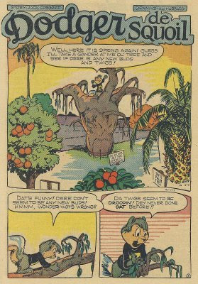 dodger de squoil and the sick tree starring dodger the squirrel comic book scan art drawing