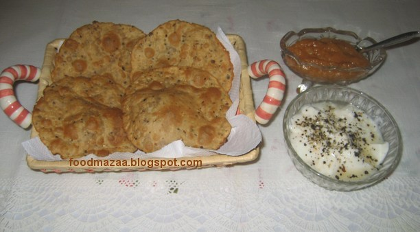 Pepper jeera puri