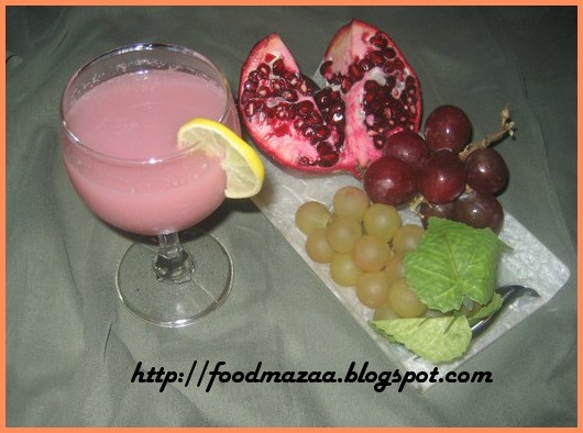 Pomegranate grape juice