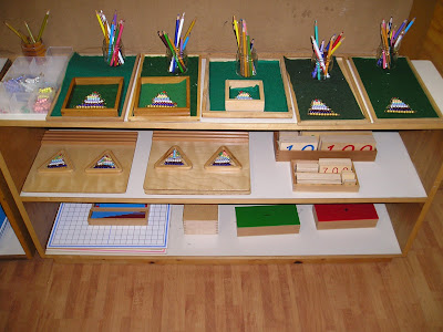 NAMC montessori prepared environment math shelves teacher preparation