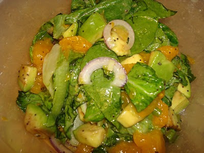 ... managed: Spinach Mandarin and Avocado Salad with Poppy Seed Dressing