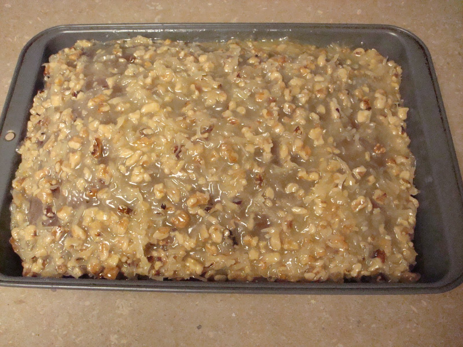 menu managed: German Chocolate Cake (Frosting)