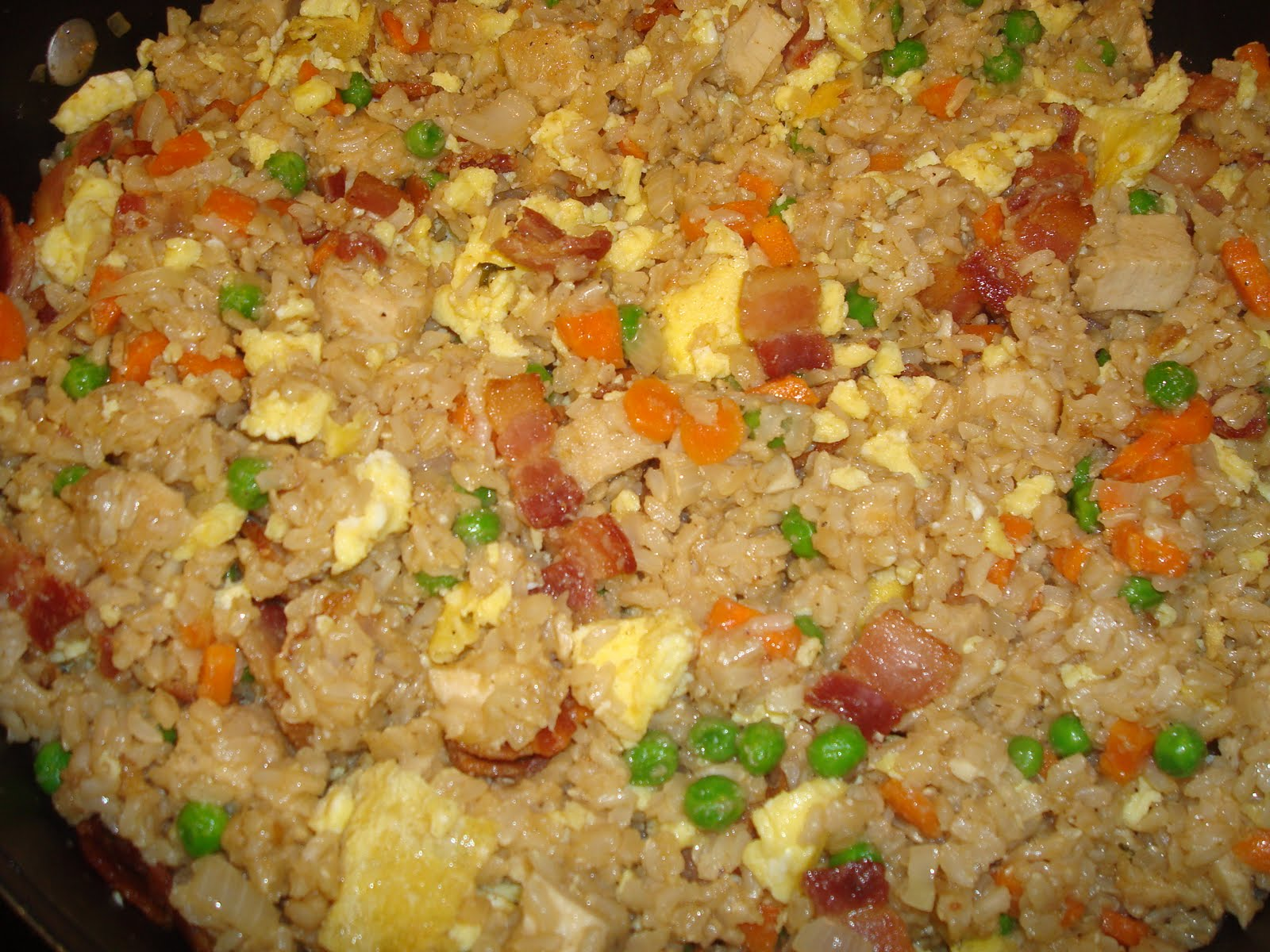 menu managed: Chicken and Bacon Fried Rice