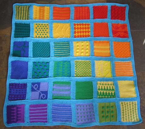 Knitted Square Patterns : AdventureLisa: Whip out those knitting needles