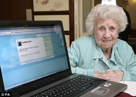 World's Oldest Facebook User Lillian Lowe 104 birthday Seen On  www.coolpicturegallery.us
