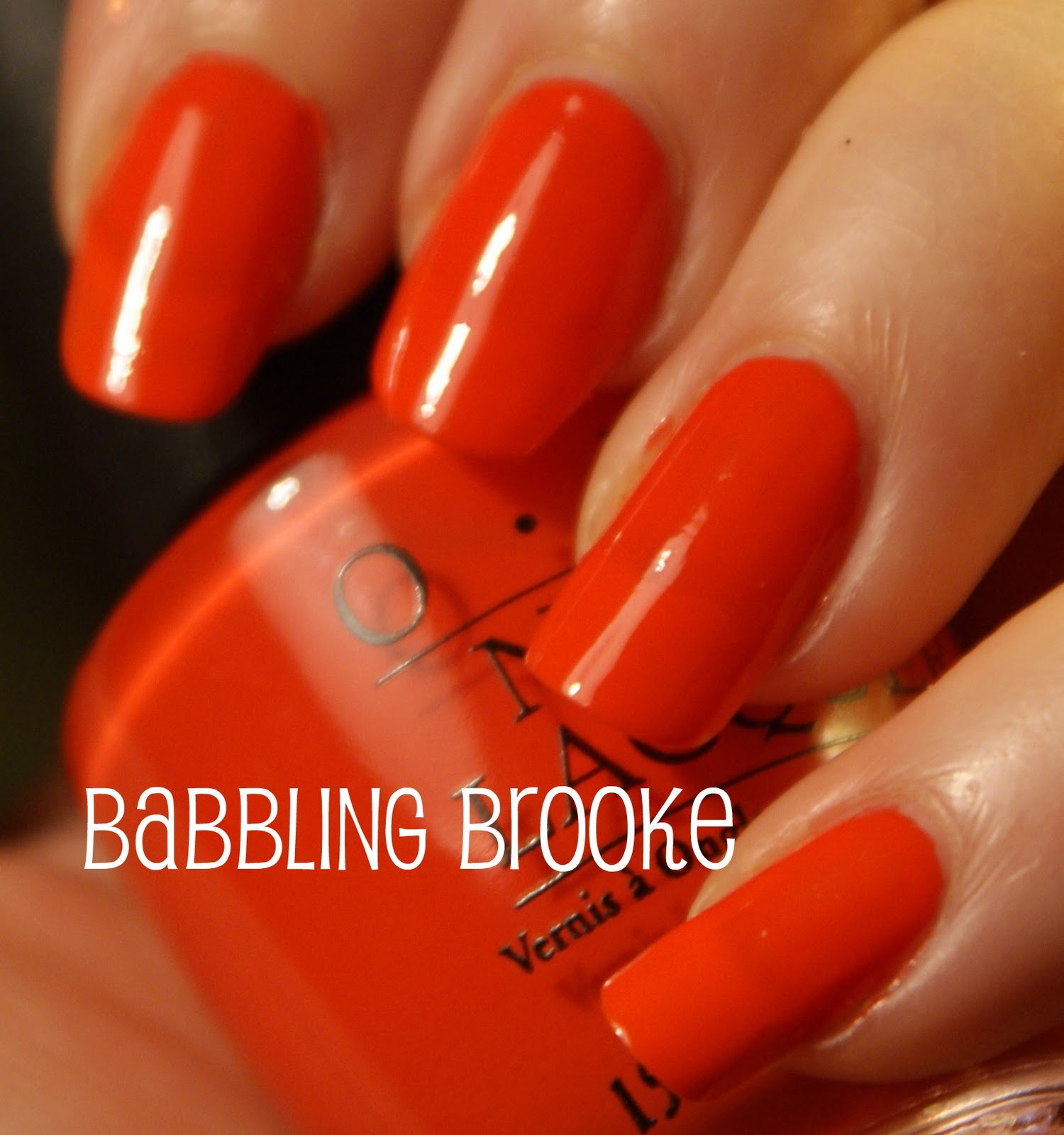 Opi A Good Mandarin Is Hard To Find Vs Hot And Spicy Babbling Brooke: Octob...