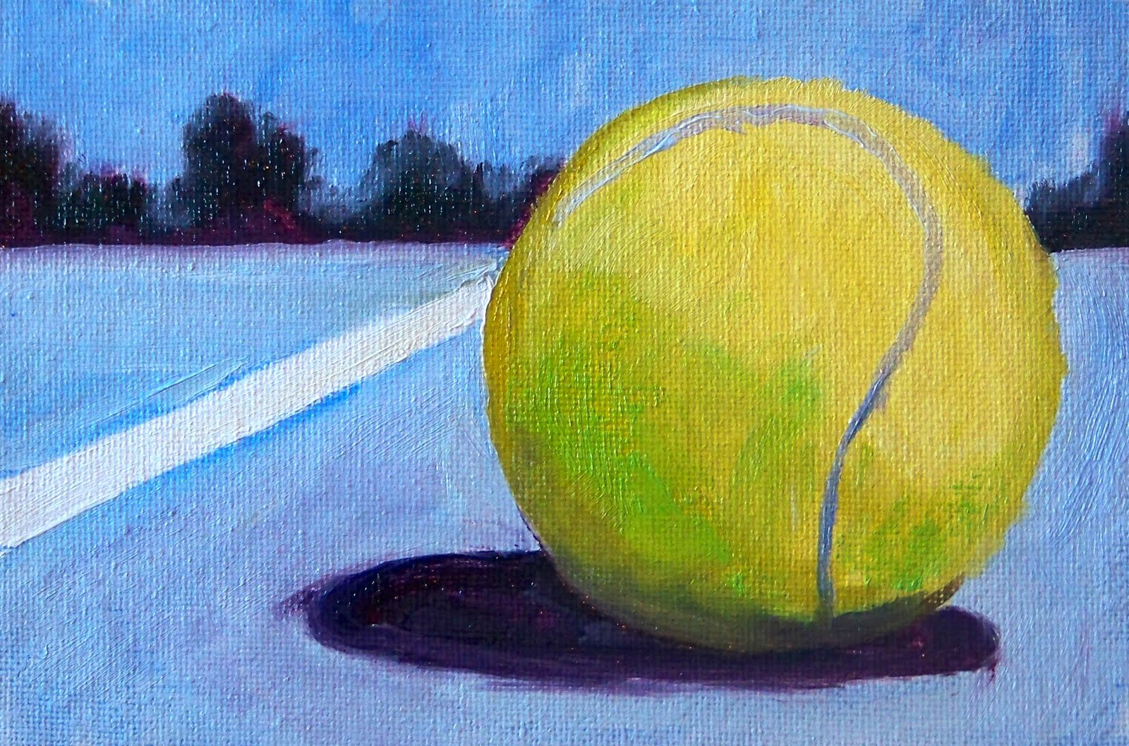Painting Small Impressions: Tennis Art
