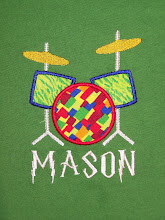 Drum set applique
