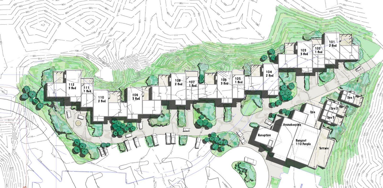 Mcm design sandpines golf resort for Site plan design