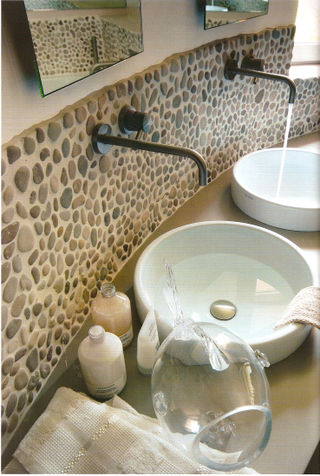Creative Island Stone Pebble Bathroom Design  Modern  Tile  Other  By