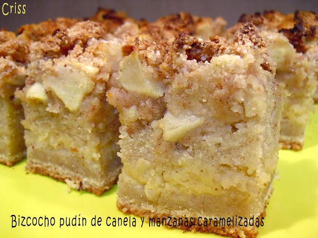 Alimenta bizcocho pud n de canela y manzanas caramelizadas for Bizcocho de manzana y canela