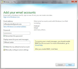 enter Gmail login details
