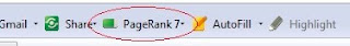 page rank installed in toolbar