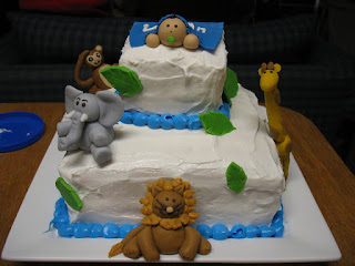 gluten free jungle baby shower cake