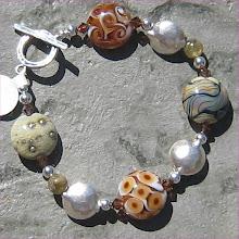 Earthy Organic Lampwork Bracelet