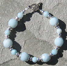 Faceted Amazonite and Silver Bracelet