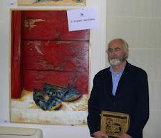 Noticias de prensa: El pintor junto a su obra: