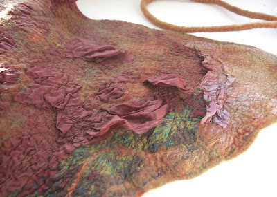 Wool,felt,felted,scarf,hip wrap,headscarf,kerchief
