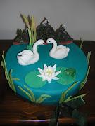 Kuğulu pasta
