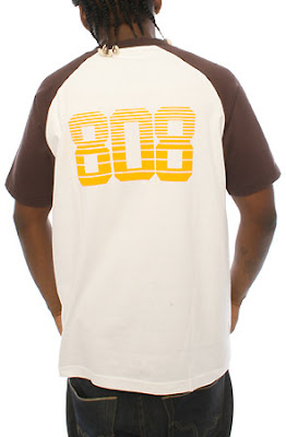 B SM08 ST015 WHTzoom3 BBP   The 808 Raglan T