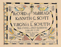 Records of Marriage Fraktur  $39