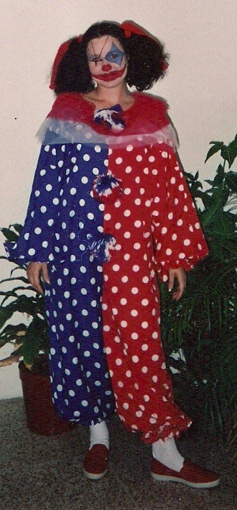 A  O 1990   Disfraz De Payaso   Realizado En Tela De Popelina Con