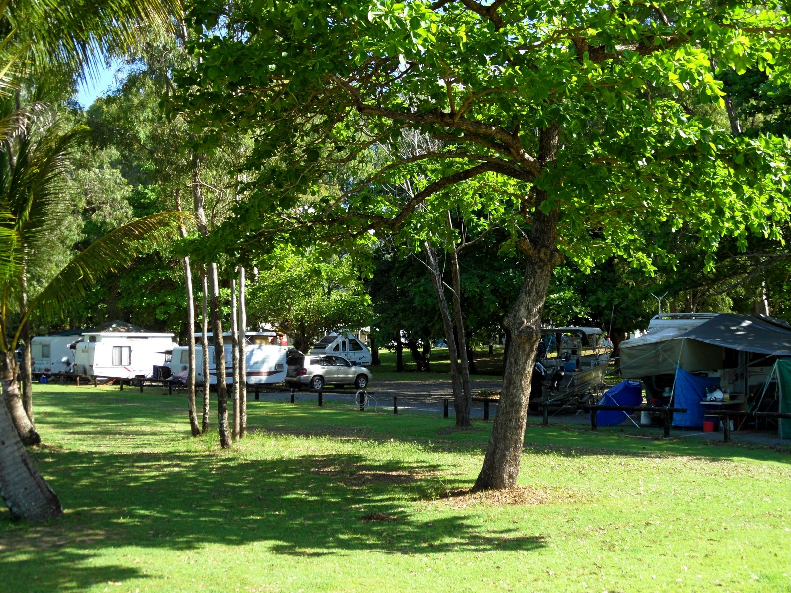 Bramston Beach Australia  city photos : Camping at Bramston Beach, all the generators are along the fence line ...