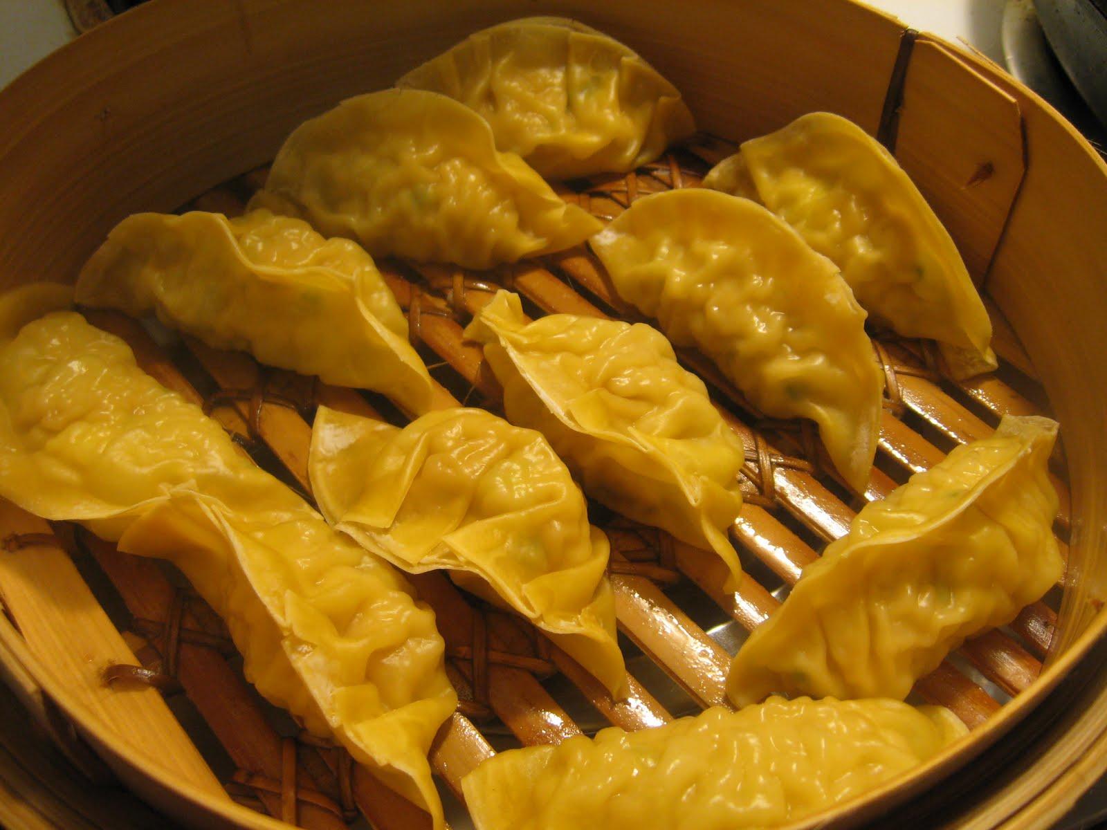 """full tummies: Gyoza (Chinese dumplings, aka """"pot stickers"""")"""