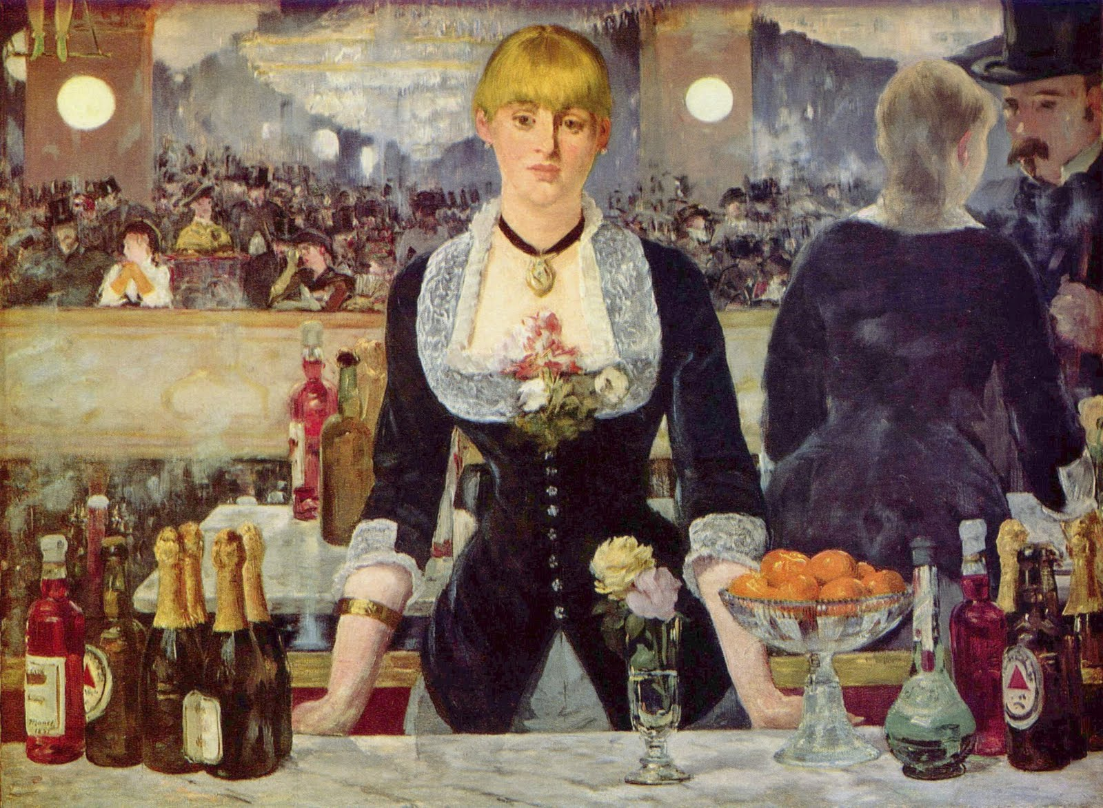 A Bar At The Folies Bergere This is an unusual portrait