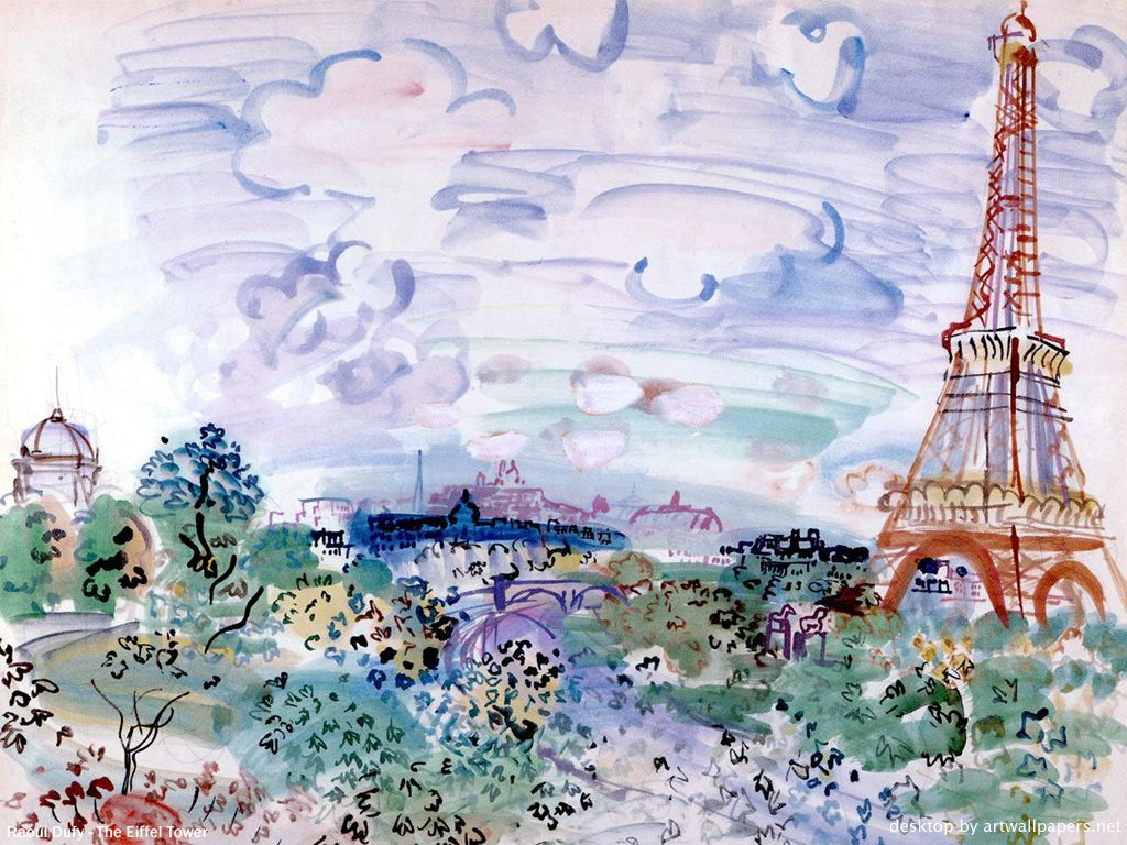 Painting of the Eiffel tower