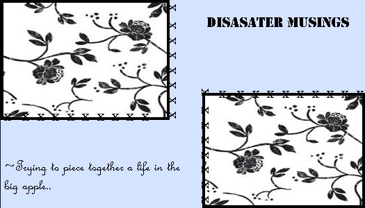 Disaster Musings