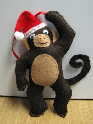 Monkey Christmas Ornament