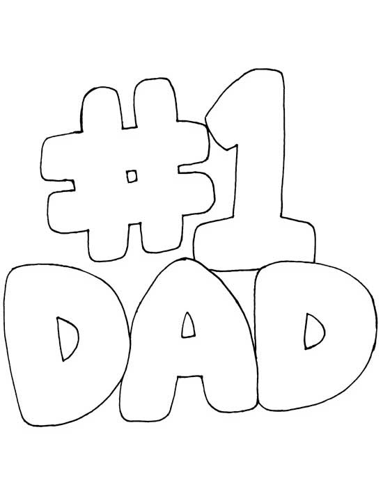 Printable coloring pages for Dad