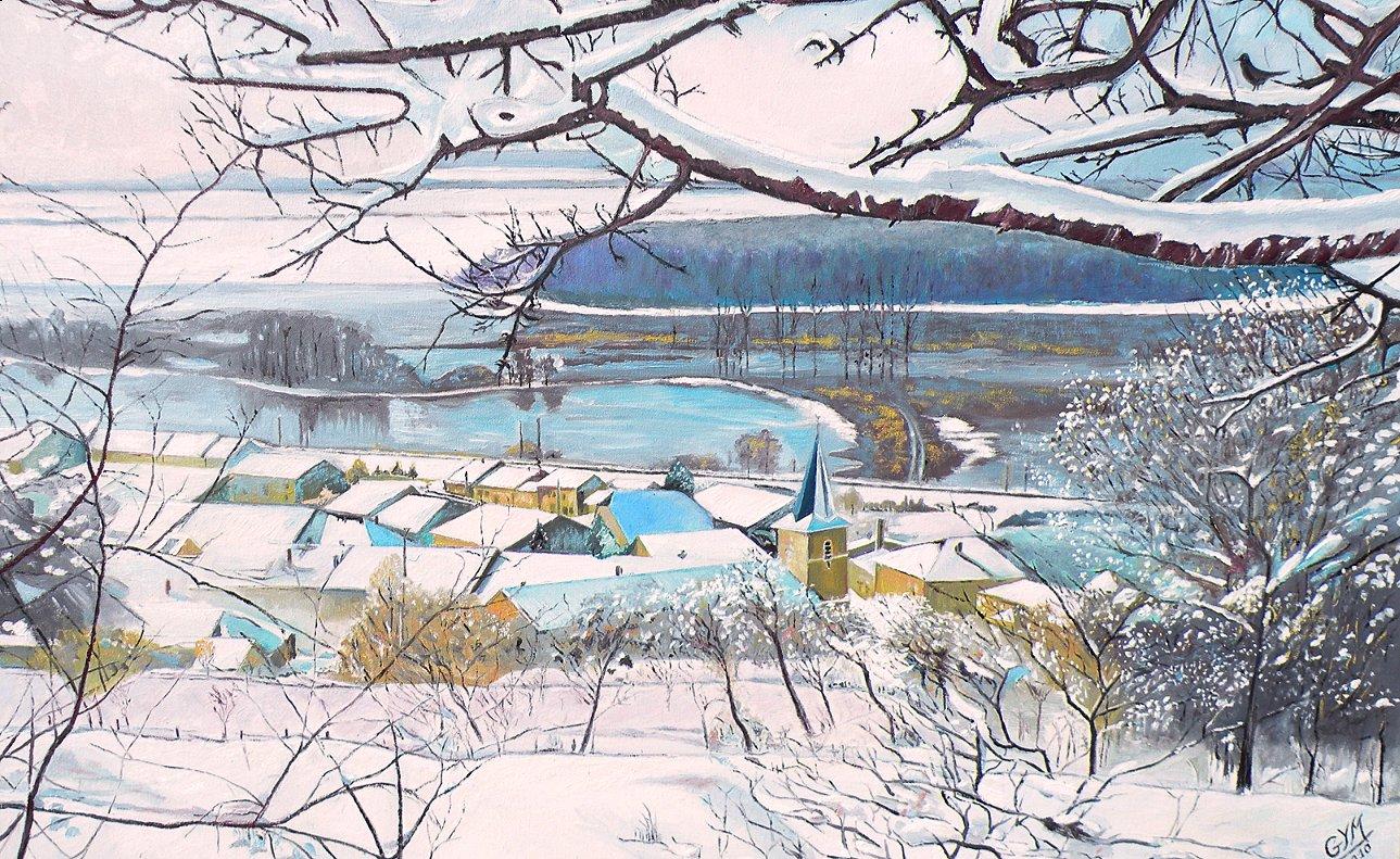 Hiver neigeux à Levécourt