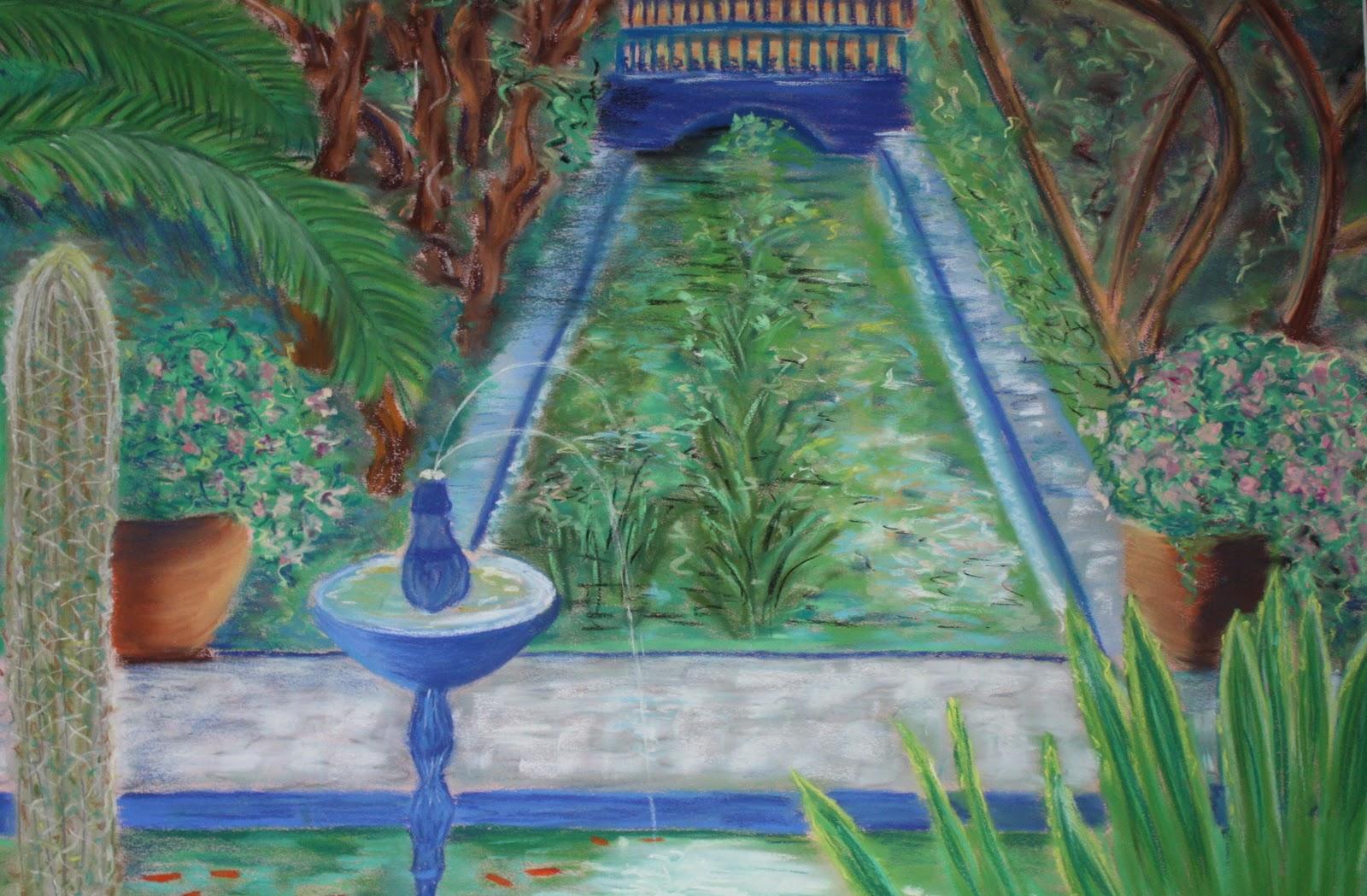 Alain colordemo jardin majorelle marrakech 2000 for Jardin 2000