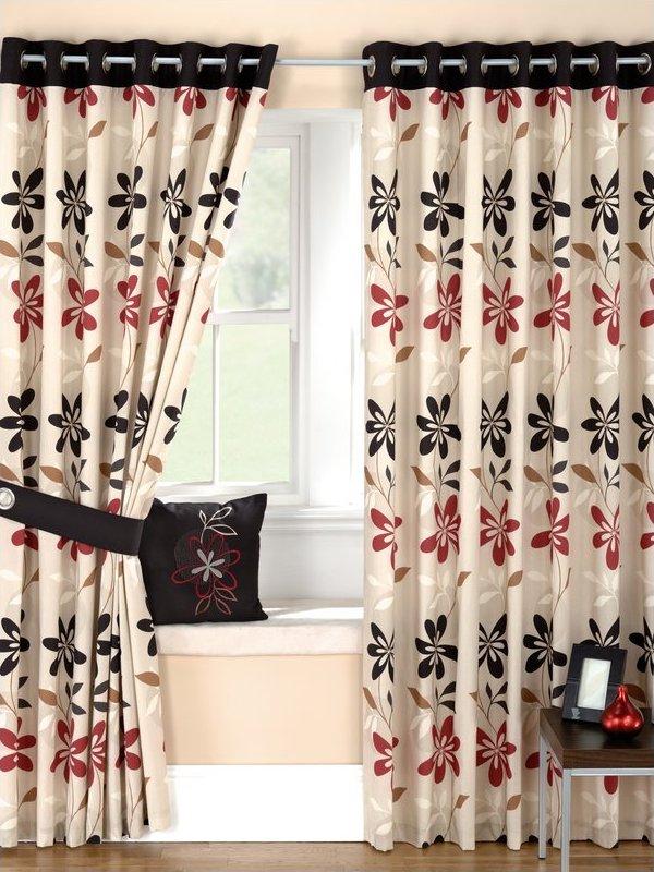 Cortinas para el hogar ideas para hacer cortinas floreadas - Telas estampadas para cortinas ...
