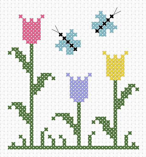 Free Cross Stitch Pattern Flower