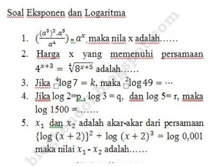 Hot Tips Soal Eksponen Dan Logaritma