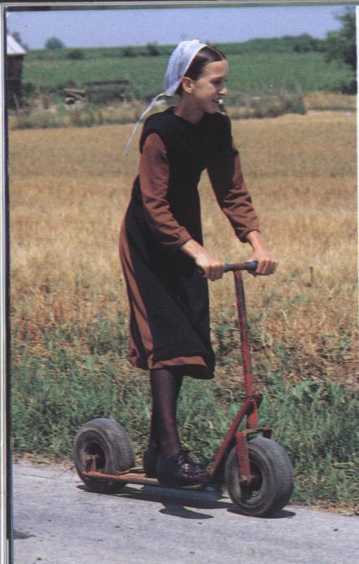 An Amish Girl Having Fun Source Unknown