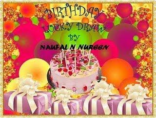 :: Birthday Lucky Draw By Naufal N Nureen ::