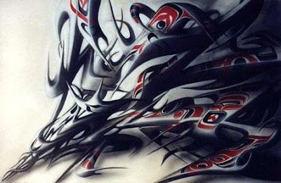 graffiti alphabet, graffiti letters, graffiti tribal