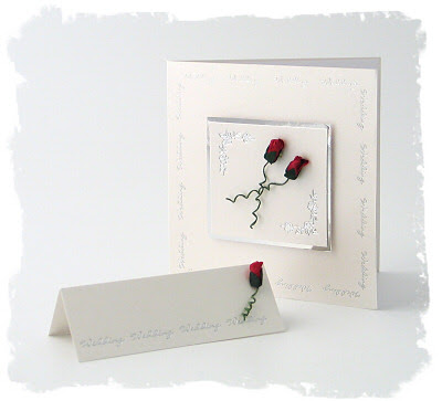 rose theme wedding invitations