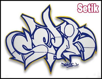 digital graffiti arrow. 3d graffiti arrow