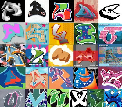 3D sketch graffiti alphabet letters. Graffiti alphabets with a cool 3D style
