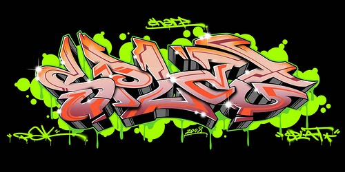 Graffiti Alphabet 3D Graphics Design
