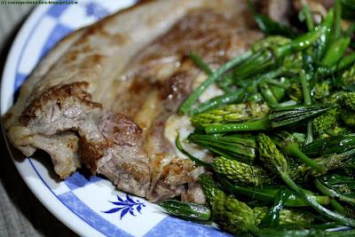 Tendron de veau de l'Averyon grillés et légumes sauvages